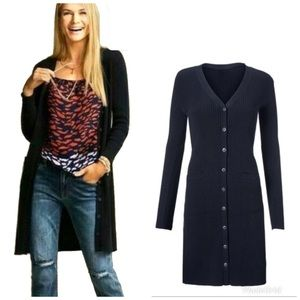 Cabi 5450 Navy Counsel Button Front Cardigan S